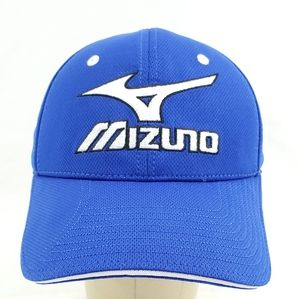 Mizuno Blue Baseball Cap Hat • Adjustable • Golf •